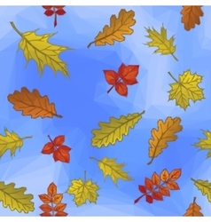 Leaves and Blue Sky vector image vector image