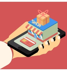 Mobile store concept vector image vector image