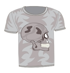 T-shirt with drawing of the skull vector image