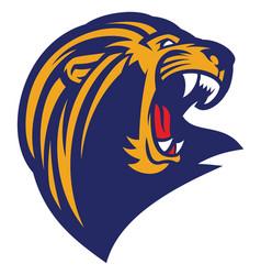 Roaring lion head mascot vector