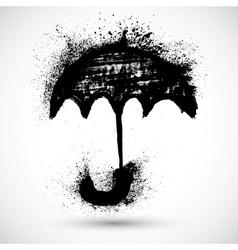 Umbrella grunge sketch vector image