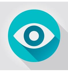 Eye icon flat design vector image vector image