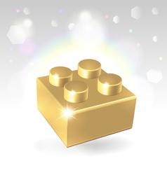 Golden construstion block award vector image vector image
