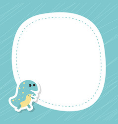 Greeting card with cute dinosaur greeting card vector
