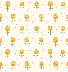 Little roses pattern vector