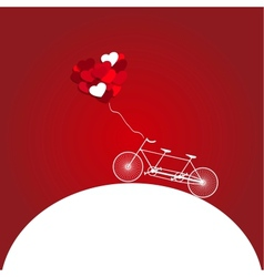 Romantic bicycle heart background vector image