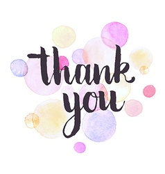 thank you greeting card vector image vector image
