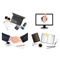 business and office backgrounds vector image vector image