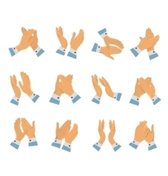 Clapping Hands Flat Icon Set vector image vector image