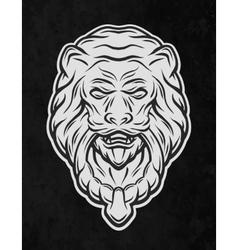 Lion head door On a dark background vector image vector image