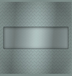 metal background of tread plate texture with gap vector image