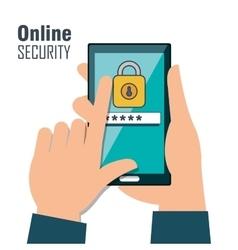 online security password lock design isolated vector image
