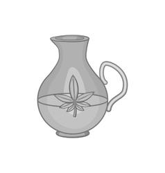 Pitcher of marijuana icon black monochrome style vector image vector image