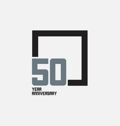 50 year anniversary square template design vector