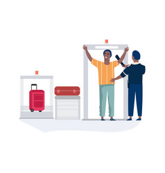 Airport security airline employee checking vector