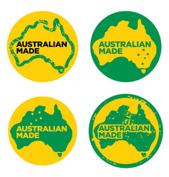 Australian made in australia logos vector