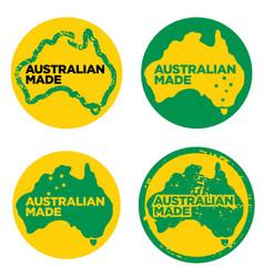 Australian made or made in australia logos vector