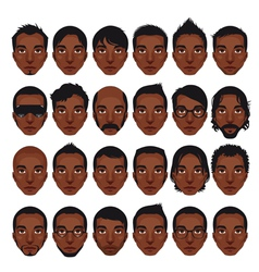 Avatar mens portraits vector image