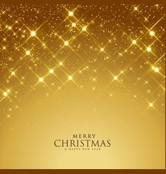 Beautiful golden sparkles festival background vector