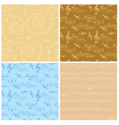beige and blue backgrounds - seamless patterns vector image