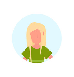 blonde woman avatar isolated faceless female vector image
