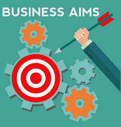 Business aims and goals concept vector