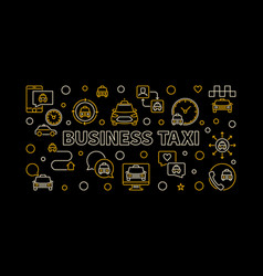 business taxi creative horizontal outline vector image