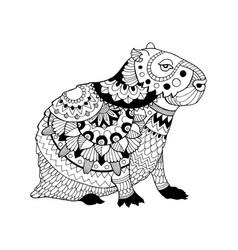 capybara coloring book vector image