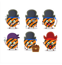 Cartoon character halloween stripes candy with vector