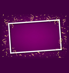 celebration party frame template with confetti vector image