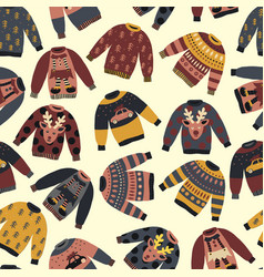 Christmas holiday sweaters seamless pattern vector
