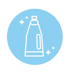 Cleaning bottle detergent or shampoo product vector