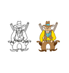 Coloring humorous caricature character vector