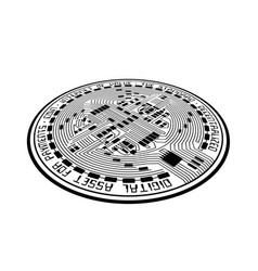 crypto coin empty perspective vector image