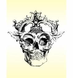 Deranged grunge skull vector