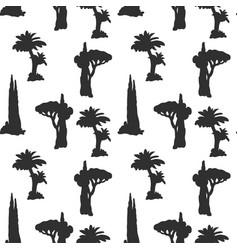 desert trees pattern vector image
