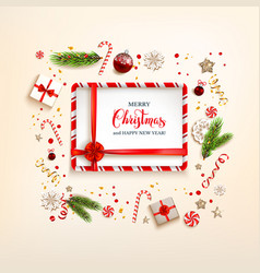 design elements with gift boxes vector image
