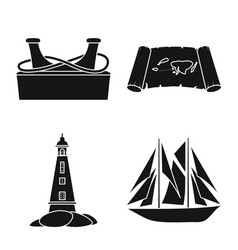 Design journey and seafaring sign vector