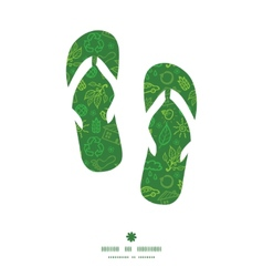 ecology symbols flip flops silhouettes pattern vector image