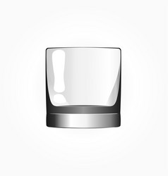 empty glass for whiskey or scotch vector image
