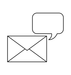 Envelope mail with speech bubble icon vector