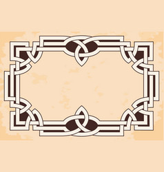 frame with celtic ornament vector image