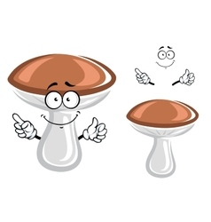 Funny forest mushroom cartoon character vector
