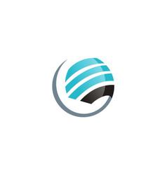 Globe sphere stripe logo vector