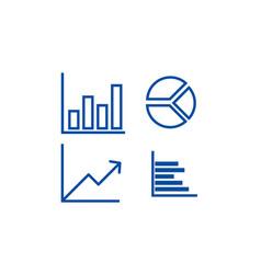 graphs line icon concept graphs flat vector image