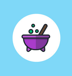 halloween cauldron icon sign symbol vector image