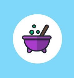 Halloween cauldron icon sign symbol vector