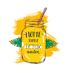 Hand drawn abstract creative detox water vector