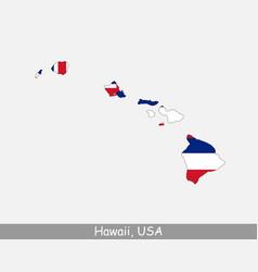 hawaii map flag vector image