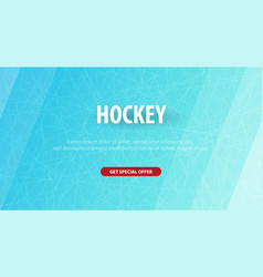 hockey background with doodle elements vector image